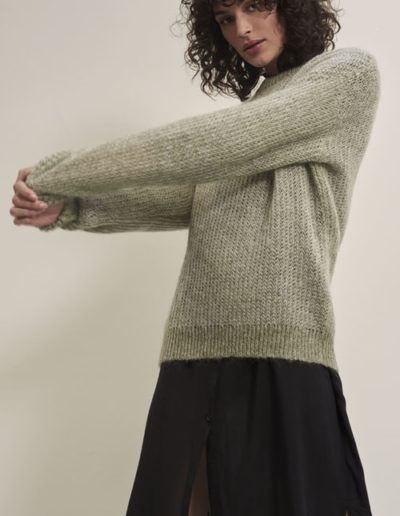 Pull�20Sweater�20Moss�20Melange_Kimmy�20Dress�20Back_Front
