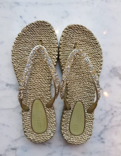 Slippers-goud