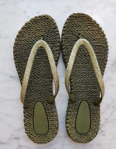 Slippers-groen